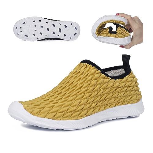 Hishoes Hombres Mujeres Muy Ligero Zapatos de Agua de Playa Unisex Secado Rápido descalzo Aqua Zapatos