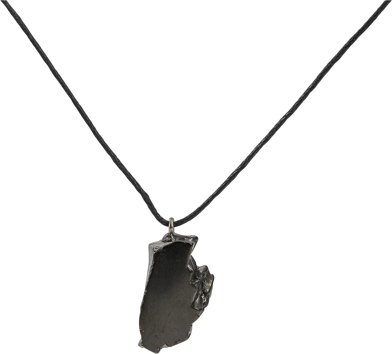Heka Naturals Collar con Colgante de Shungita de Élite, Ideal para Protección Electromagnética | el Colgante de Grado 1 Ayuda a Equilibrar la Energía