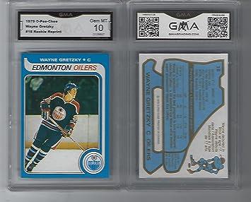 Wayne Gretzky O Pee Chee Rookie Reprint Graded Gem Mint 10 Oilers