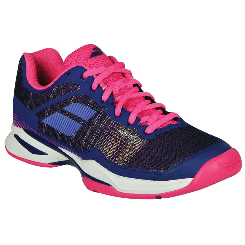 Babolat Women's Jet Mach I All Court Tennis Shoes, Estate Blue/Fandango Pink (Size 8.5)