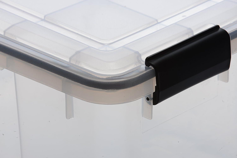 /Couvercle herm/étique  amovible 1 Grande bo/îte de rangement 50/L herm/étique Plastique Transparent Zone humide Conservation au sec59/cm x 39/cm x 29/cm/