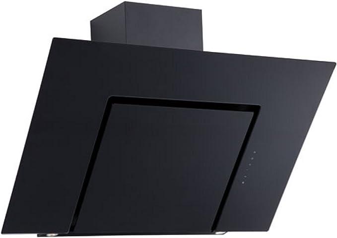 Campana extractora de cristal negro de 70 cm, 2 halógenas de 35 W: Amazon.es: Grandes electrodomésticos