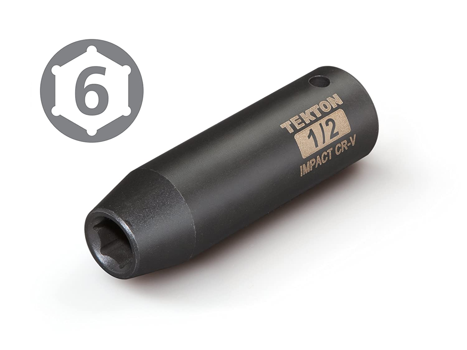 Cr-V Drive by 11 mm Deep Impact Socket TEKTON 47802 1//2 in 6-Point