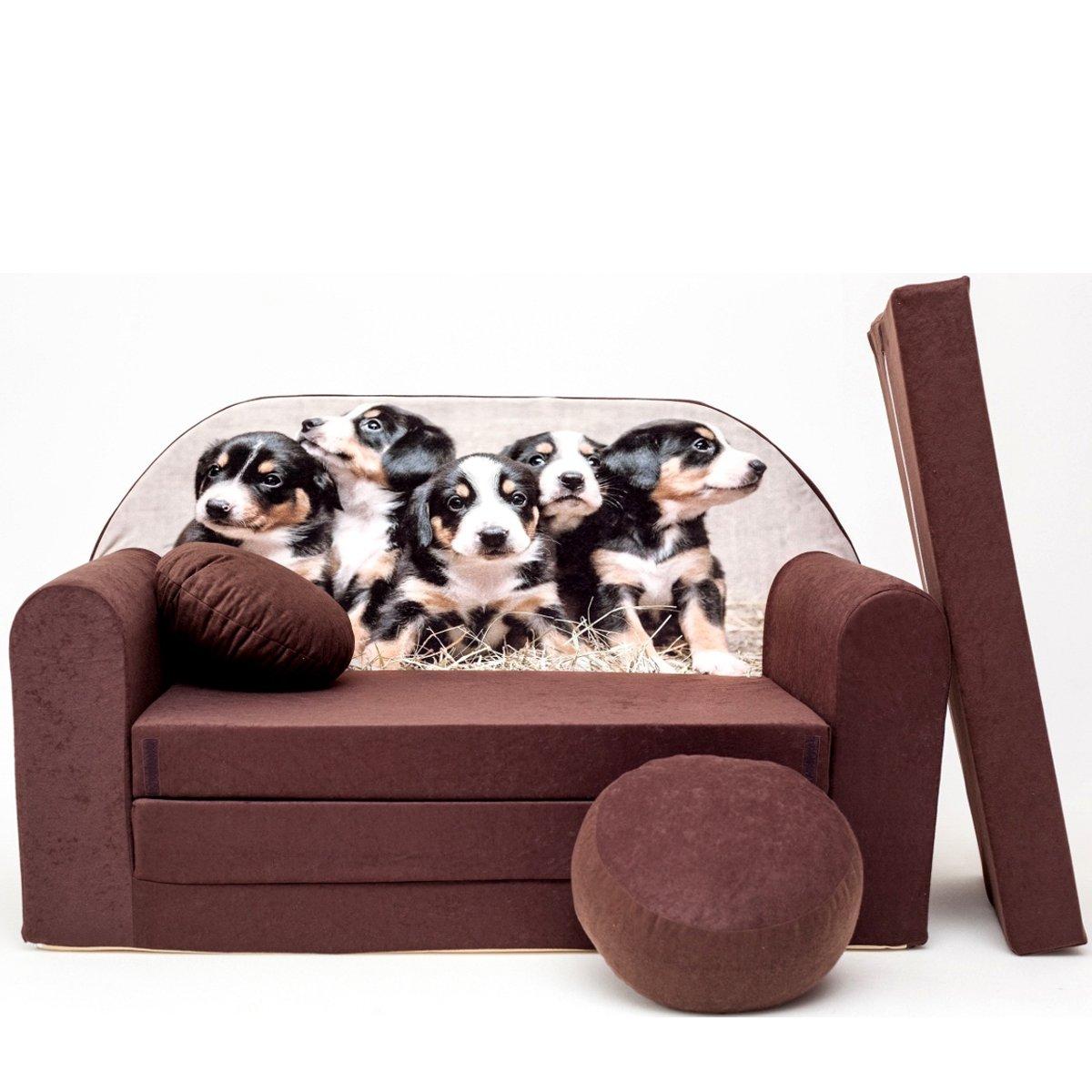 K7+ enfants Canapé ausklapp Bar Canapé-lit canapé Mini Basse 3en 1Ensemble pour bébé + Fauteuil pour enfant et coussin d'assise + matelas barabike SOF026