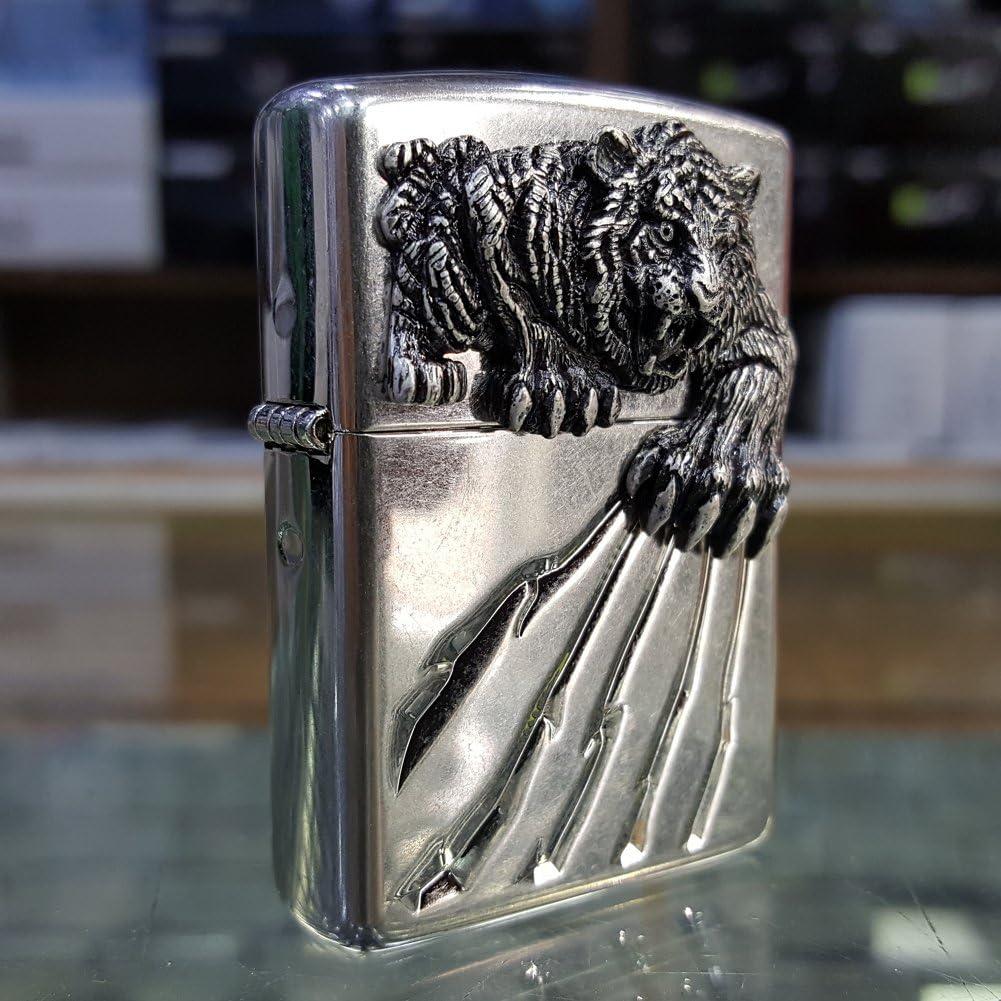 6 Flints Set Free Gift Zippo Tiger Claw BI Lighter//Genuine Authentic//Original Packing