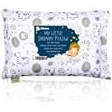 Toddler Pillow with Pillowcase - 13X18 Soft Organic Cotton Baby Pillows for Sleeping - Washable and Hypoallergenic - Toddlers, Kids, Infant - Perfect for Travel, Toddler Cot, Bed Set (Kea Safari)