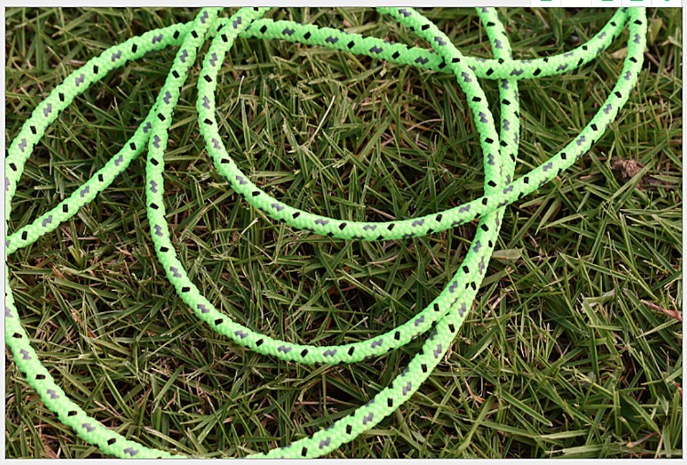 DPLUS Camping Rope 50m Fluorescent Reflective Guyline Tent Rope Nylon Cord Paracord for Outdoor Camping Hiking Tent