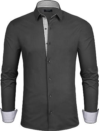 Grin&Bear Camisa Hombre para Oficina y Ocio en 3 Cortes Diferentes, Desde Extra Slim Fit a Regular, SH333: Amazon.es: Ropa y accesorios