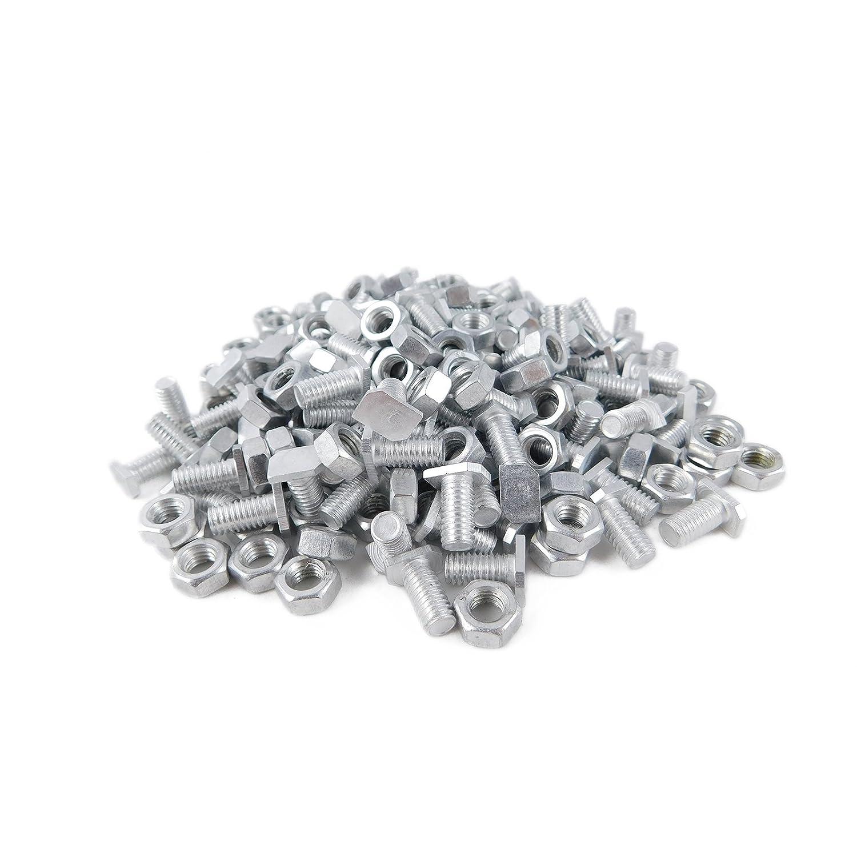 DANNYRIDIN 40x Aluminium M6 Hammerkopfschrauben mit Muttern f/ür Gew/ächshaus Perfektes Gew/ächshaus Zubeh/ör