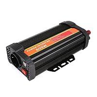 MVPOWER 300W/600W/1000W Auto Spannungswandler Wechselrichter DC 12V auf 220V Power Inverter mit Zigarettenanzünder Stecker und 2 USB Anschlüsse aus Aluminium Schwarz (600W, 12-220V)