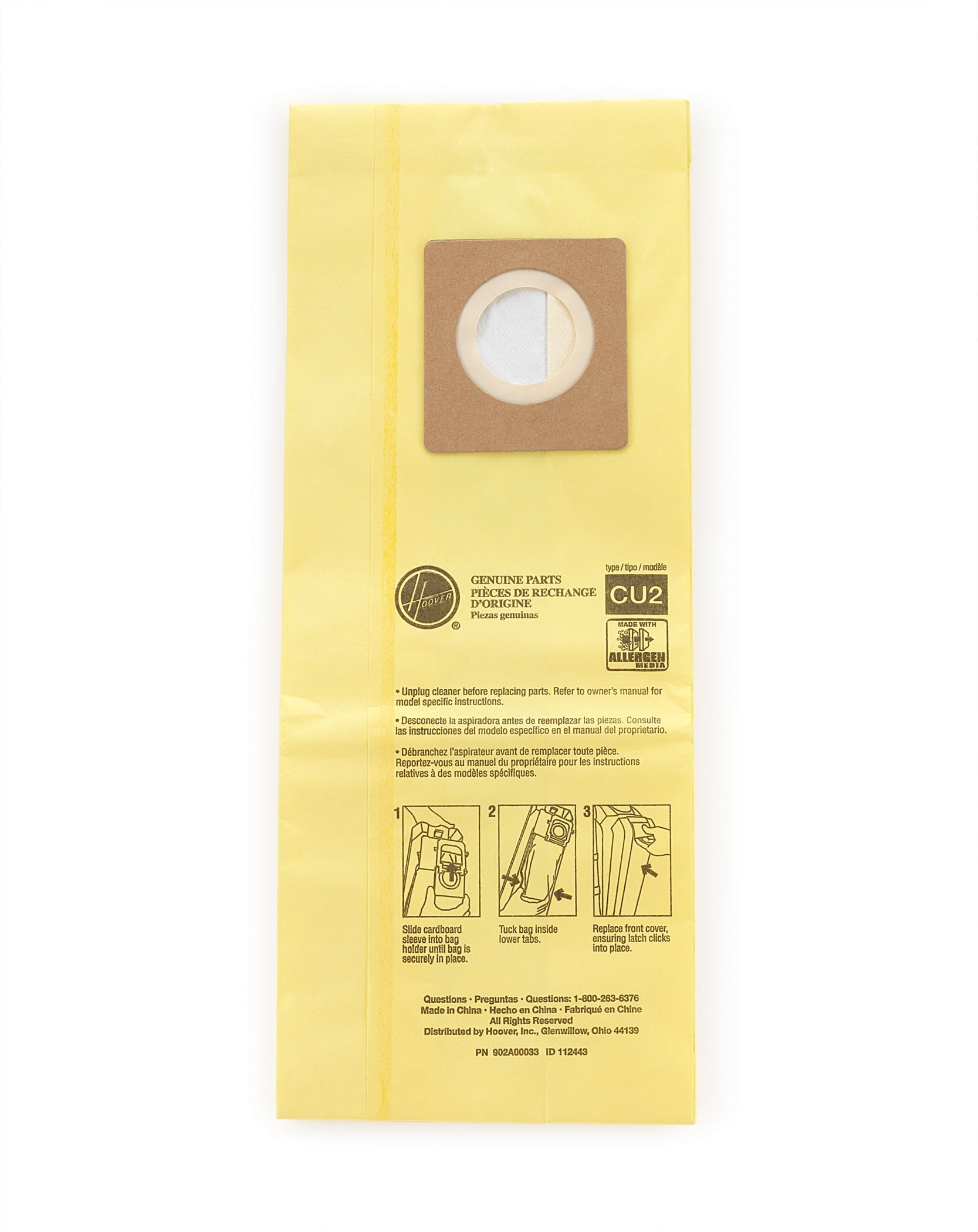 Hoover Commercial AH10243 Upright Bags for HushTone, Allergen Filtration (Pack of 10) by Hoover Commercial