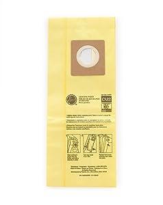 Hoover Commercial AH10243 Upright Bags for HushTone, Allergen Filtration (Pack of 10)