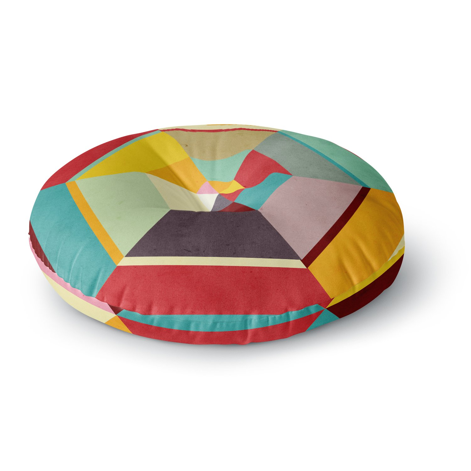 Kess InHouse Danny Ivan Color Mess 26 Round Floor Pillow