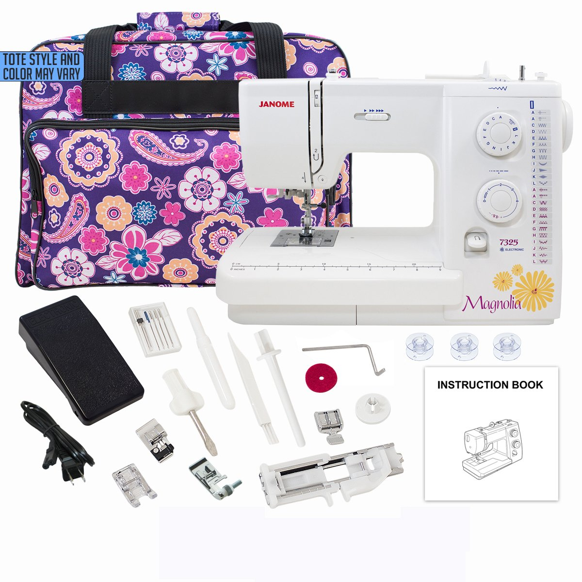 Janome Magnolia 7325 Sewing Machine with Exclusive Bonus Bundle