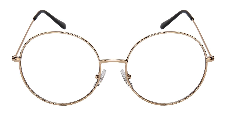Edge I-Wear Classic Retro Round Shape Sunnies w//Flat Lenses 5121