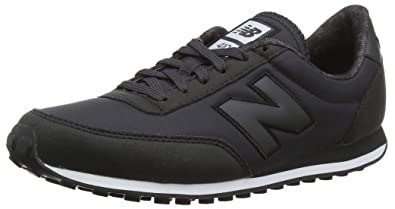 New Balance 410, Womens Trainers, Black (Black/White Kbk), 8