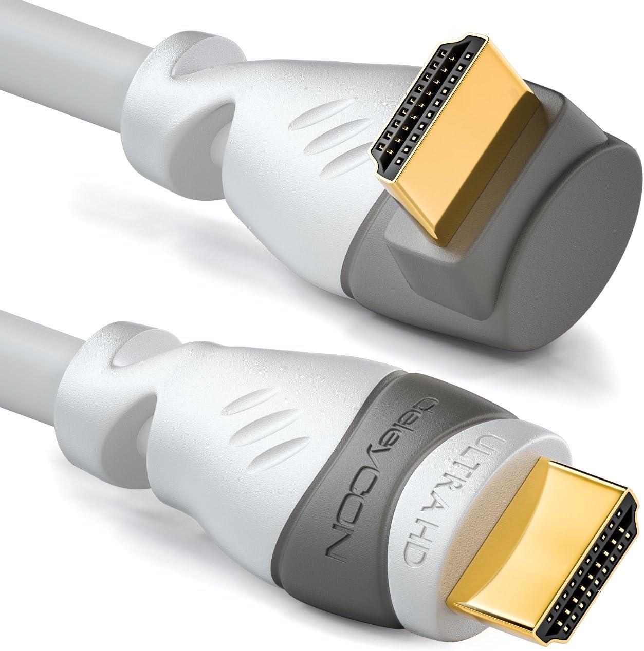 Deleycon 0 5m Hdmi 90 Grad Winkel Kabel Kompatibel Elektronik