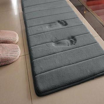 Badezimmermatte, rutschfest, saugfähig, aus Memory-Schaum, grau ...