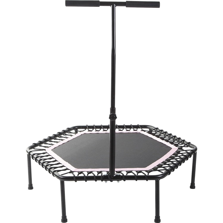 GORILLA SPORTS Fitness-Trampolin mit Griff Ø 100 cm – Sprungtrainer höhenverstellbar in 3 Farbvarianten