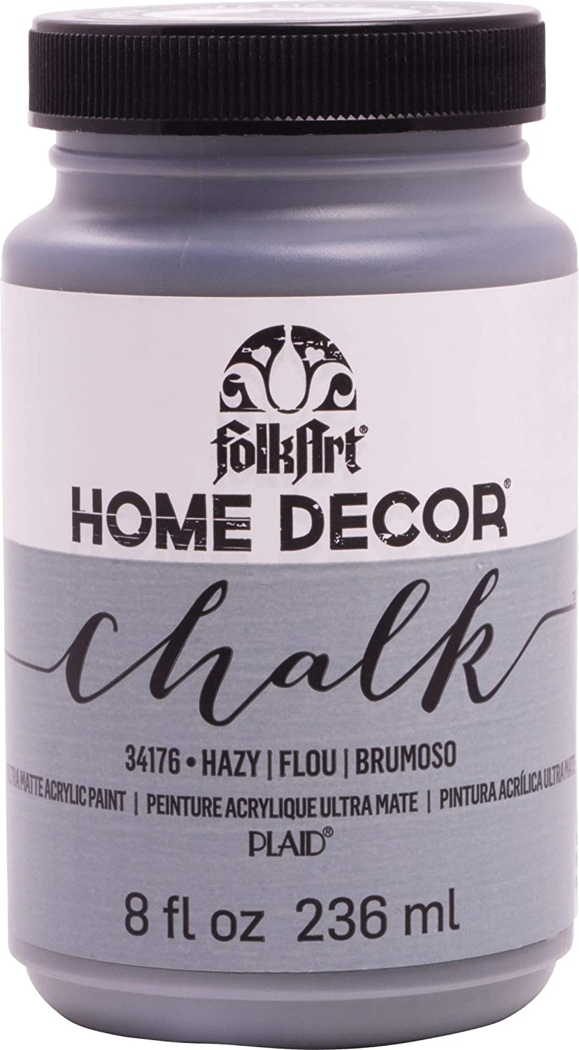 FolkArt Home Decor Chalk Furniture & Craft Paint in Assorted Colors, 8 ounce, Hazy
