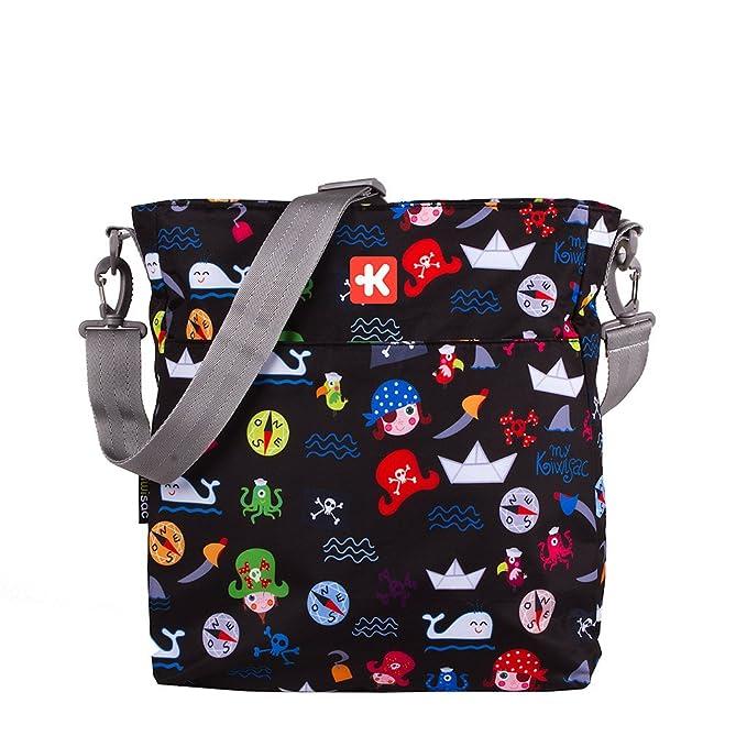 Kiwisac Happy Trip Bolso de Silla de Paseo Unisex con un Diseño Basado de Piratas/Bolso para Carro Bebé para Pañales con Bandolera Ajustable, Color Negro: ...