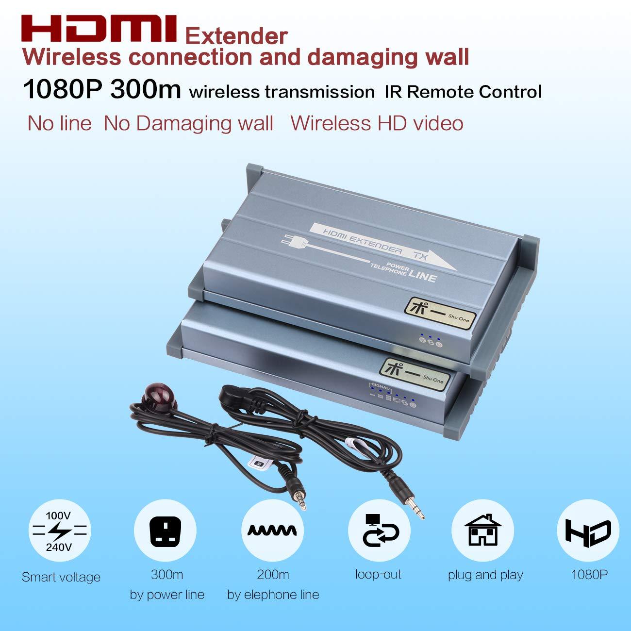 Amazon.com: HDMI IR Extender via Home Powerline,works like Wireless ...
