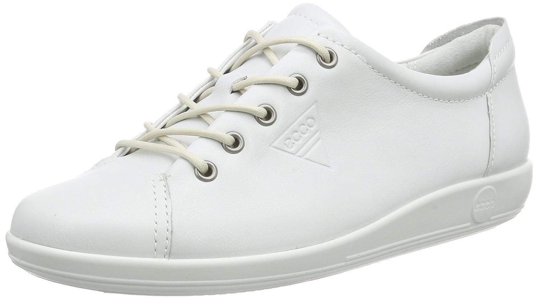 Ecco Soft 2.0, Zapatos de Cordones Derby para Mujer 42 EU|Blanco (White1007)
