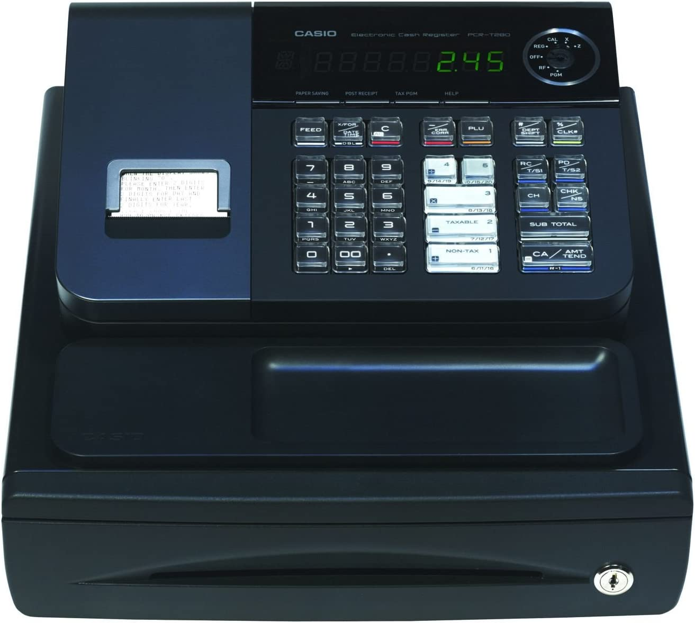 Casio PCR-T280 Electronic Cash Register,Black