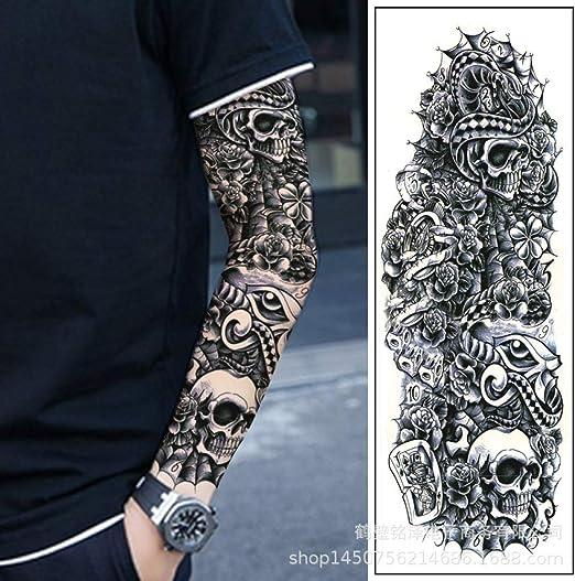 tzxdbh 3Pcs-Brazo Completo Etiqueta engomada del Tatuaje Hombres y ...
