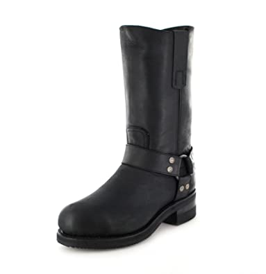58361483783 Sendra Boots 12397 black engine boots with a steel toe cap: Amazon ...