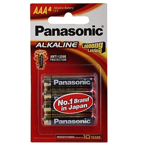 030dcc221ff Panasonic Battery Alkaline 4 AAA Battery 1.5V  Amazon.in  Electronics