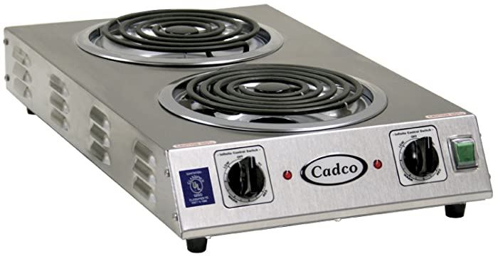 Cadco CDR-2TFB Space Saver Double 220-Volt Hot Plate
