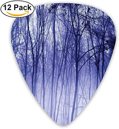 Blue Butterfly Purple Flowers Novelty Guitar Picks Medium Gauge Set of 6