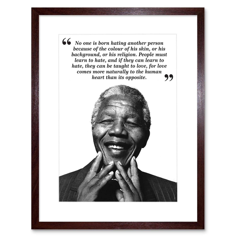 Amazon 9x7 Inch No One Is Born Hating Nelson Mandela Bw