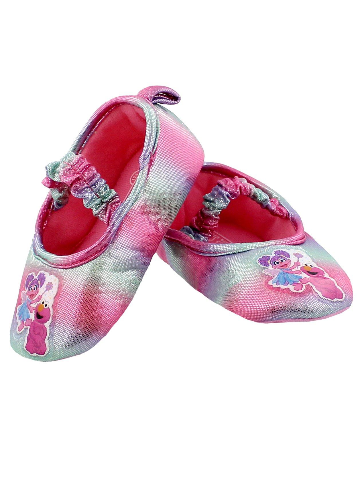 Sesame Street Toddler Girls Slippers Elmo Abby Cadabby Kids Ballerina Non-Slip Grip House Shoes 7-8 M US Toddler