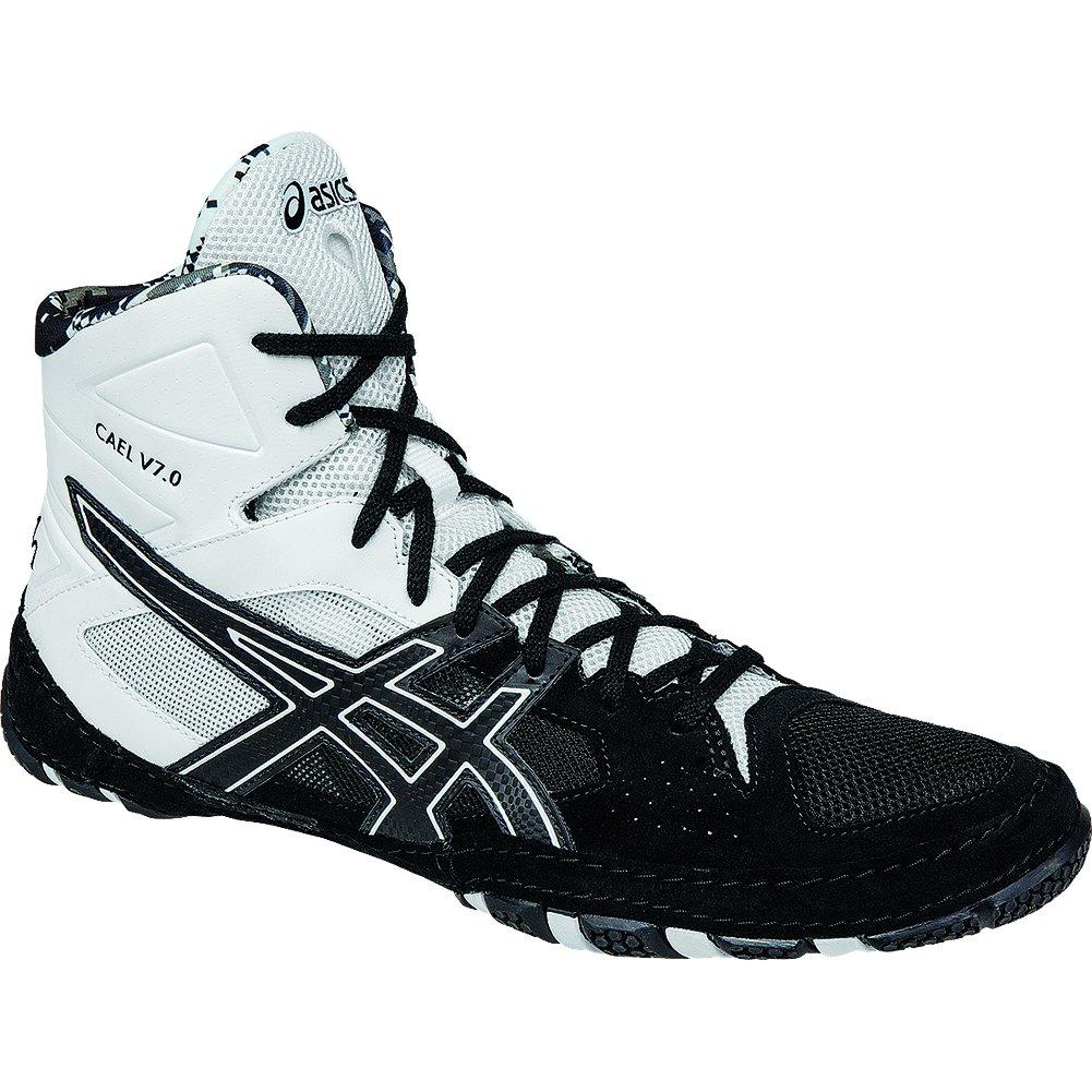ASICS Men's Cael V7.0 Wrestling Shoe, Black/Onyx/White, 10 M US