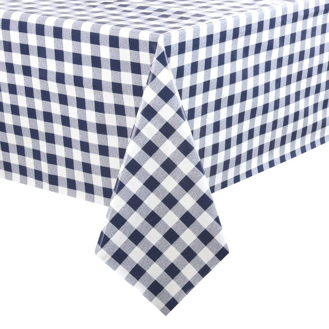 Blue Check Tablecloth 1400X2300mm Tablecover Oilcloth Restaurant PVC