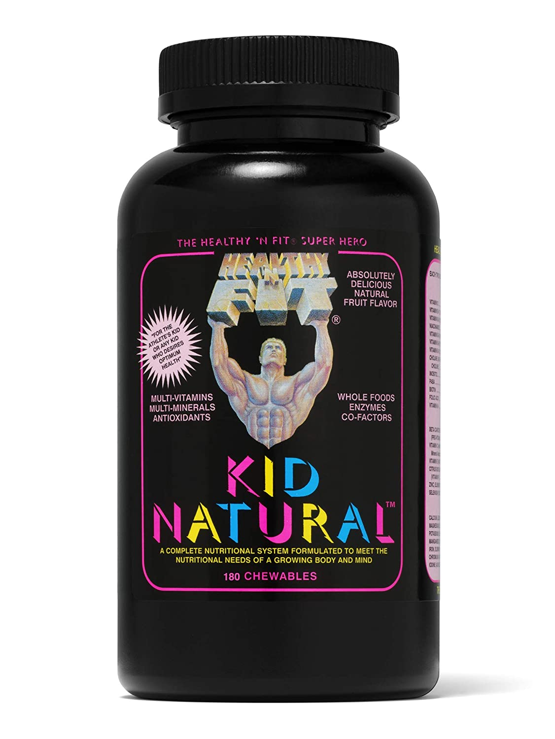 Healthy N Fit KID NATURAL- 180 Natural Fruit Flavored Chewables Children s Complete Nutritional System, Supporting A Growing Body and Mind.
