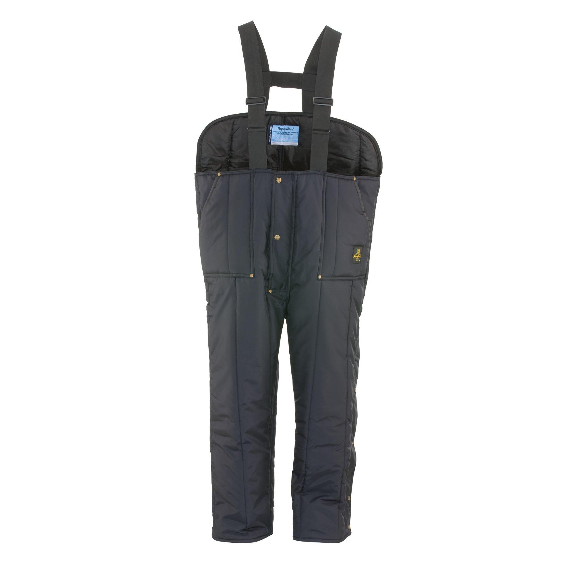RefrigiWear Men's Iron-Tuff Low Bib Overalls, Navy, 3XL