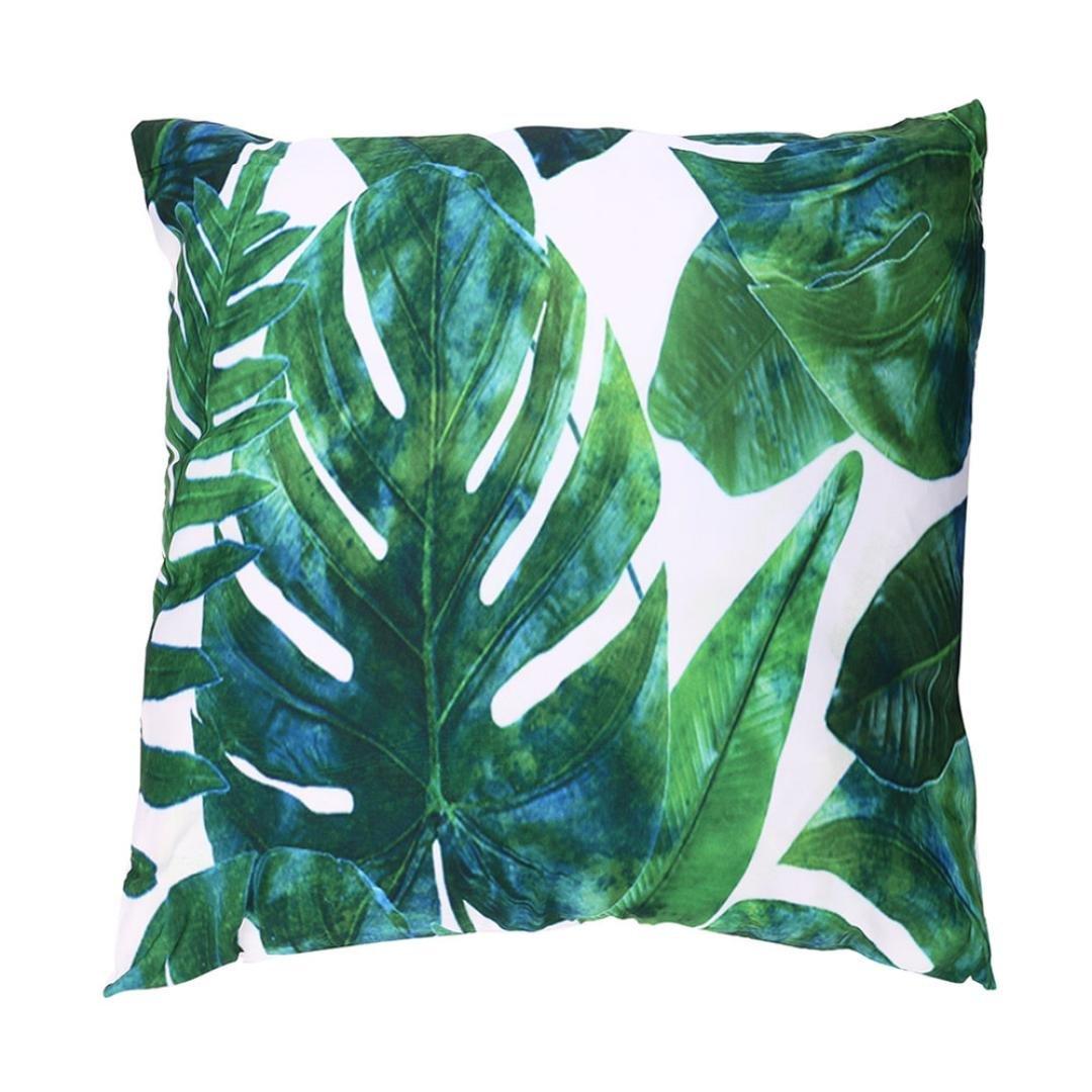 Fossrn 3PC/Conjunto Fundas Cojines 45x45 Tropical Flor Hojas Funda de Cojines para Sofa Jardin Cama Decorativo (01)