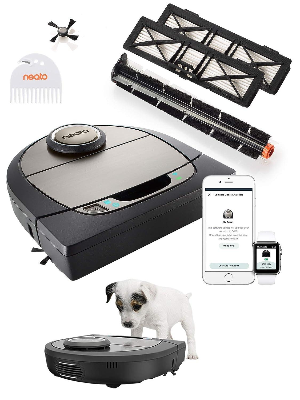 Neato Robotics D750 Premium Pet Edition - Compatibile con Alexa - Robot aspirapolvere con stazione di ricarica, Wi-Fi & App: Amazon.es: Hogar