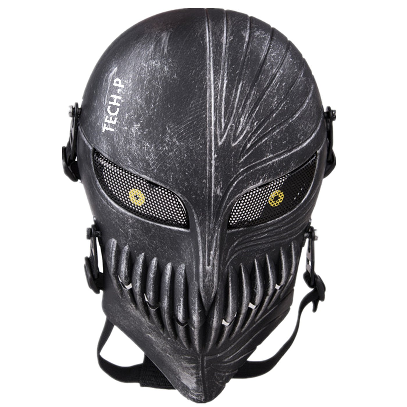 Amazon.com : Tech-p Death Skull Face Mask - Protective Mask Gear ...