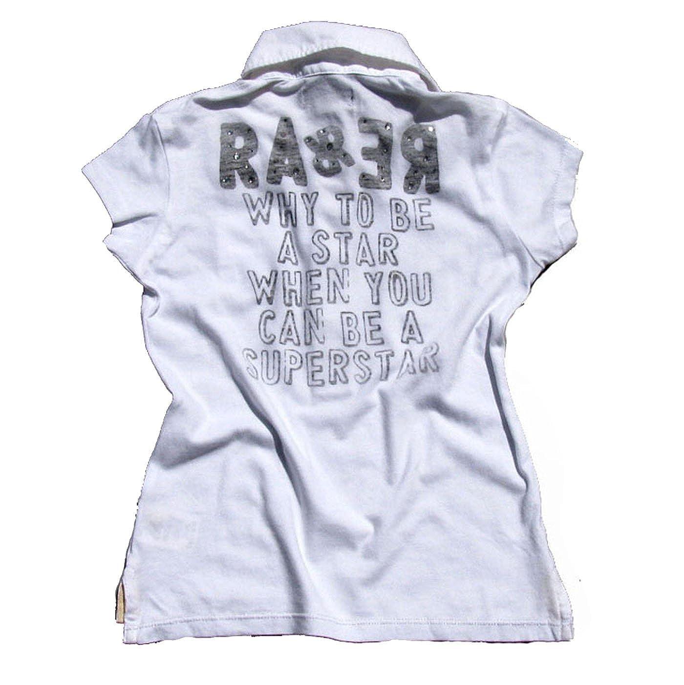 RARE Medio-Hecha The Kid Polo Blanco Blanco 6 años: Amazon.es ...