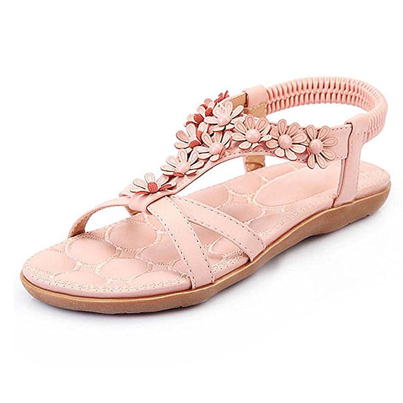 SJYO Women's Flat Sandals Flip Flop Slippers Sandals Flat Beach Sandals for women B0721HSC46 11 B(M) US|Pink3