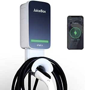 JuiceBox 32 Next Generation Smart Electric Vehicle (EV) Charging Station with WiFi - 32 amp Level 2 EVSE, 25-ft Cable, UL & Energy Star Certified, Indoor/Outdoor (Hardwired Install, Black/Grey)