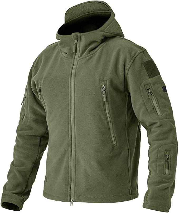 Tactical Military Army Combat Zipped Fleece Hoodie Security Police Hiking