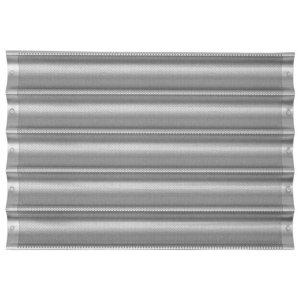 Chicago Metallic Uni-Lock Perf. Aluminum 5-Mold Baguette Pan