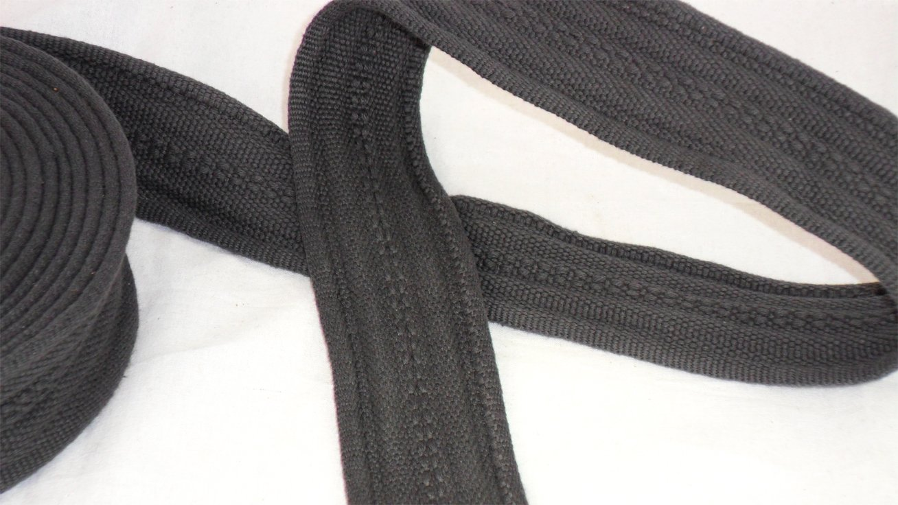 50mm Pure Cotton Thick Tape Thick Webbing Strap Tent Upholestry Bags Sturdy Cotton Straps Harness Craft Black 2 Meter Tyagi Craft