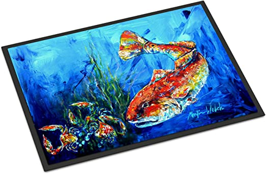 Carolines Treasures Fish Tuna Tuna Blue Indoor or Outdoor Doormat 18 x 27 Multicolor