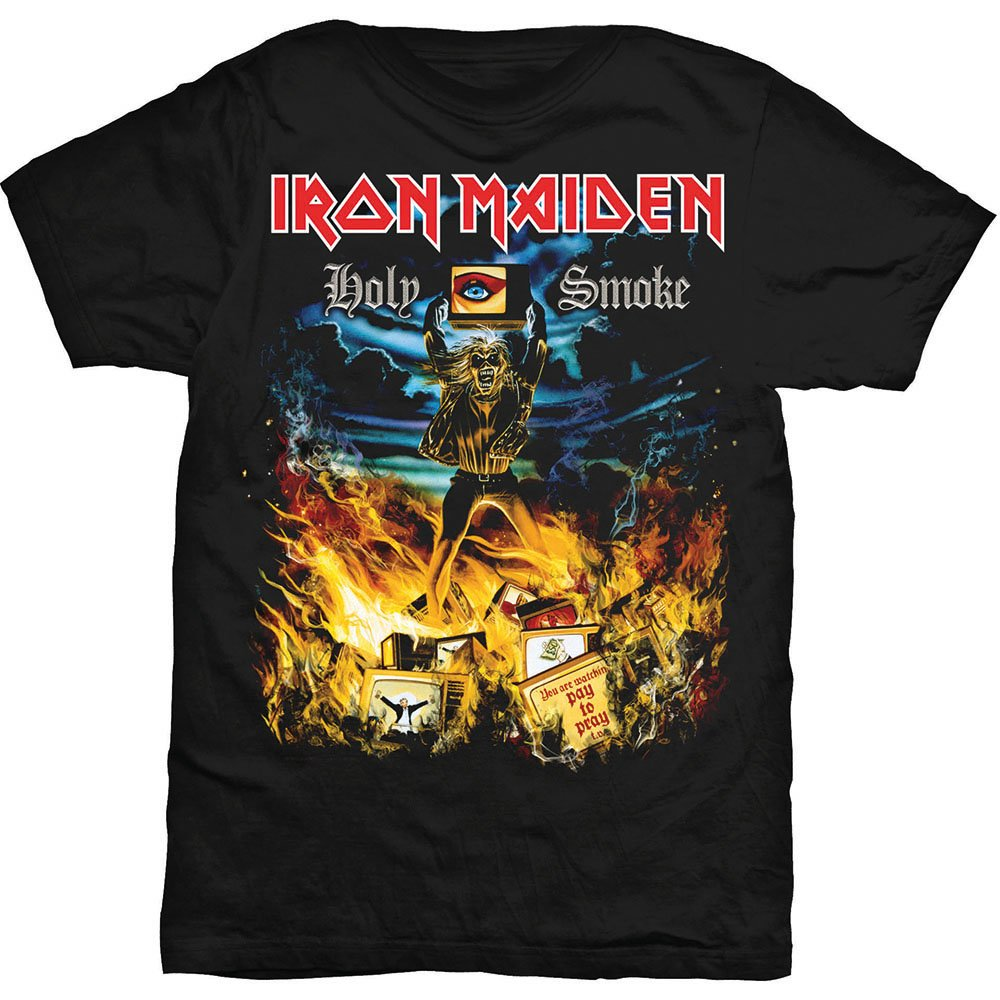 Iron Maiden S Holy Smoke Black Shirts